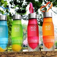Botol Minum H2O Unik-Infused Water Bottle-Dengan Alat Perasan Jeruk