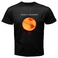 Kaos keren New Coldplay - Parachutes Men's Black T-Shirt Size S-3XL