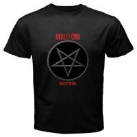Kaos Kece Motley Crue Pentagram Logo Metal Rock Band Size S to L