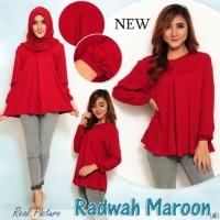 Jual Baju Wanita  [Blouse Radwah Maroon+Pashmina SW] blouse wanita rayon Murah