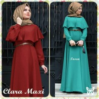 Jual Baju Wanita Pakaian Maxi + Pashmina  Hijab Maxi Cape Clara Murah