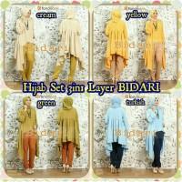 Jual Baju Wanita Pakaian Maxi + Pashmina   Hijab Set 3in1 Layer BIDARI Murah