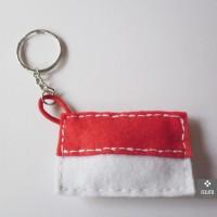 Jual Gantungan Kunci / Keychain Merah Putih Bendera Indonesia - Handmade Murah