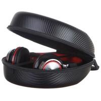 Tas Headphone Case Bahan EVA Motif Carbon 24 x 22 x 10.5cm