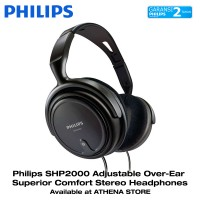 Philips SHP2000 Adjustable Over-Ear Comfort Stereo Headphones SHP 2000