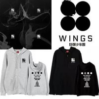 Jaket Hoodie Zipper Bts Wings