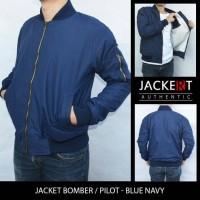 Jual Jaket Pilot / Bomber Navy Tahan angin & Anti Air Model Slim Fit Murah