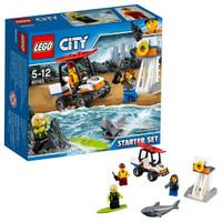 Jual LEGO City-60163 Coast Guard Starter Set ATV Lifeguard Surfer Shark Toy Murah
