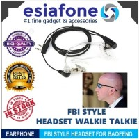 ESIATEC 2-Pin FBI CIA Style Walkie Talkie Headset Earphone for Baofeng