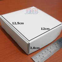 (K.24) Karton 12 x 12,5 x 3,8 Box Kertas Duplex Polos