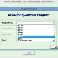 Resetter Epson L110-L210-L300-L350-L355 L550 L555