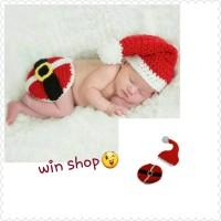 Jual Kostum rajut foto bayi#little santa Murah