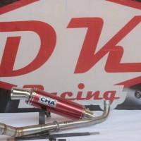 knalpot racing yamaha vega r cha rama 9 merah