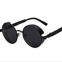 Jual TS Retro Vintage Round Metal Sunglasses Steampunk Men Women 001 Murah