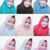 Jual Hijab Bergo instan 2 layer -- bahan bubble Murah