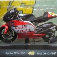 diecast miniatur MotoGP Valentino Rossi 1997 Aprilia RSV 250 tes Jerez