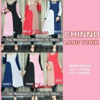 FGOnline * CHINNO LONG TUNIK Blus Dress Muslimah Wanita Model Terbaru