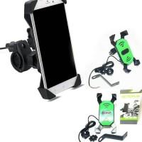 Jual PHONE HOLDER MOTOR 9NINE DENGAN CHARGER 2A(grab,gojek,uber free stiker Murah