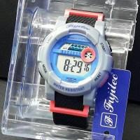 Jam Tangan Wanita Sporty Fujitec Rubber Black Dial Tosca Original