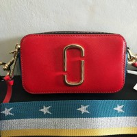 Marc Jacobs Snapshot Lava Red Multi Bag