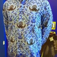 Seragam Kemeja Hem Katun Pria Batik KORPRI PGRI Dinas PNS Panjang