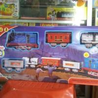 Jual Mainan Kereta Api rel baterai Thomas keluar Asap Suara Lampu MURAH Murah