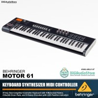 Behringer Motor 61 Key Keyboard Synthesizer Midi 8 Launch Pads Drum