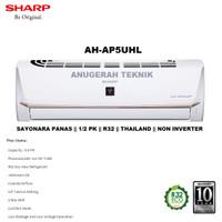 AC SPLIT SHARP 1/2 PK 1/2PK R32 SAYONARA PANAS NON INVERTER - AP5UHL