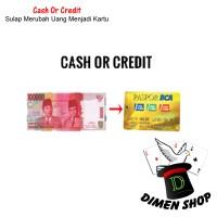 Cash Or Credit | Alat Sulap | Uang Jadi Kartu | Close Up | Dimen Shop