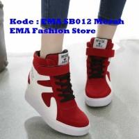 Sepatu Boots Elegan untuk Anak Muda Kode EMA SB012 Merah