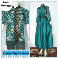 Jual Baju Couple Dress Gamis Muslimah & Kemeja Batik Jiwangga Nagita Tosca Murah