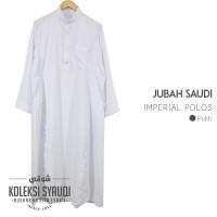 Jubah Saudi Imperial Polos Putih
