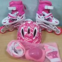 Jual sepatu roda anak lengkap helm body protektor Murah