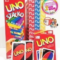Jual UNO STACKO + UNO Card + 2 Dices ! (1 Package) Murah