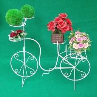 Jual Sepeda Shabby Rak Besi Putih Dekorasi Taman Rumah Pot Bunga Murah Murah
