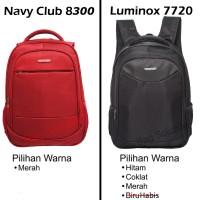 Jual Navy Club Tas Ransel Laptop Tahan Air - 15 inch - Bonus Bag Cover Murah