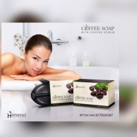 Jual Hanasui Coffee Soap / Sabun Kopi hanasui with Coffee Scrub Murah