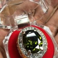 Jual Cincin Titanium Batu Green Peridot HQ Murah