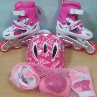 Jual sepatu roda anak lengkap helm dan protektor Murah