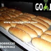 KHUSUS GOJEK -GO KILAT -Roti Hotdog wijen - Roti Hotdog Wijen - 6 Pcs