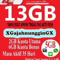 Jual Kartu Perdana Internet Smartfren 4G LTE 13GB 1 BULAN Murah Bandung Murah