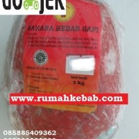 KHUSUS GOJEK -GO KILAT - Daging Kebab Tanpa Tiang Merk Sahara - 2 KG