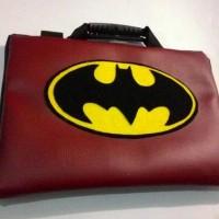 TAS LAPTOP BAG NETBOOK LUCU : BATMAN KULIT DAN JEANS 13-14 INCH PALING
