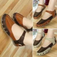 Sepatu Sandal Wanita Flat Mulan 1213