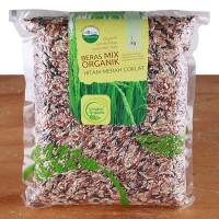 Lingkar Organik Beras Organik Mix Hitam Merah Coklat - 1 Kg