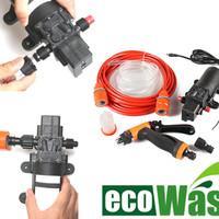 Jual Pompa Air High Pressure Car Electric Eco Wash Water Pump Kit + Adaptor Murah
