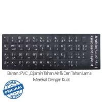 Jual Stiker Sticker Arabic Keyboard Layout Black For Laptop Murah