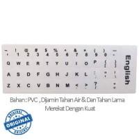 Jual Stiker Sticker English Keyboard Layout White For Laptop  Murah