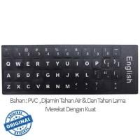 Jual Stiker Sticker English Keyboard Layout Black For Laptop Murah