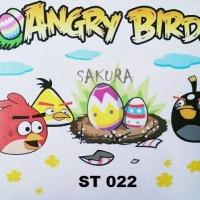 Jual ST 022 Wall Sticker Angry Bird Murah